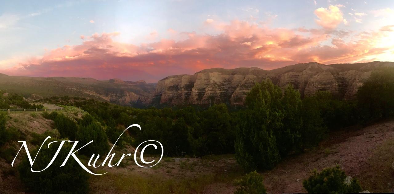 Jones Hole RidgeSunset