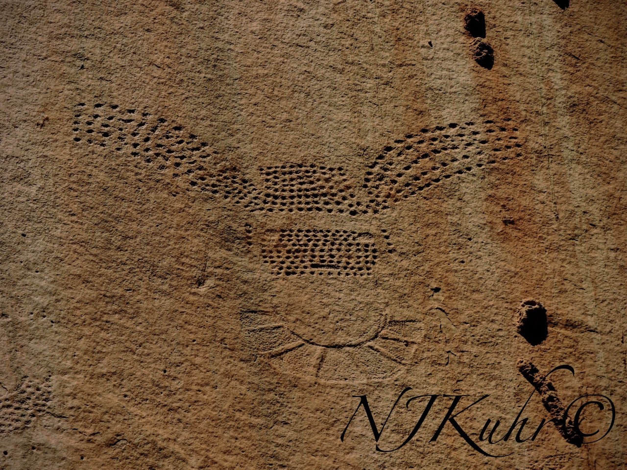 Dotted Petroglyphs Fremont People